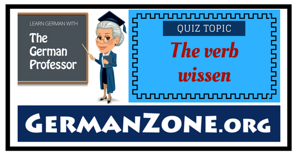 The verb wissen