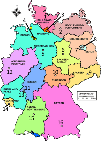 graphic regarding State Capitals Quiz Printable Multiple Choice named German Quiz: The German Landeshauptstädte -