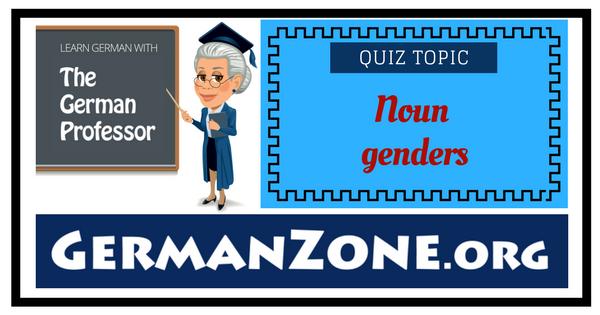 German noun genders