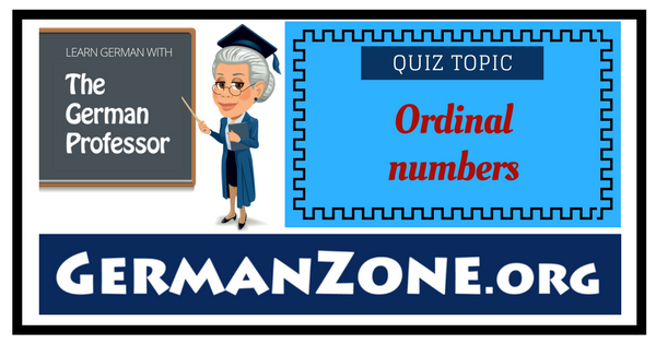 German ordinal numbers