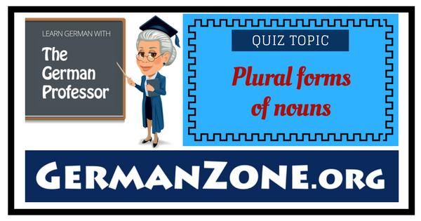 German noun plurals