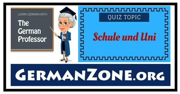 German - Schule und Uni
