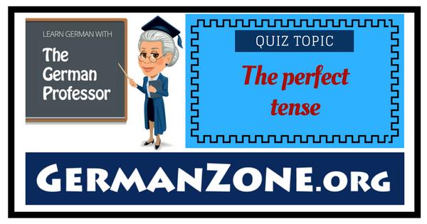 German - The perfect tense