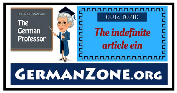 The indefinite article ein