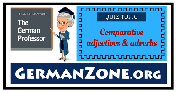 Comparative adjectives and adverbs - Comparatives