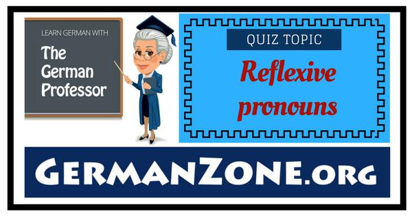 German reflexive pronouns