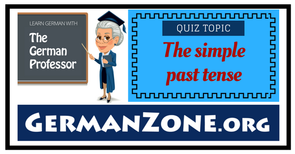 German simple past tense