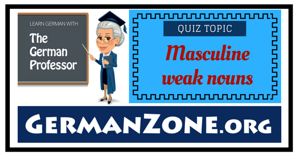 German masculine weak nouns