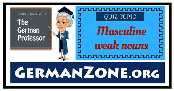 German masculine weak nouns
