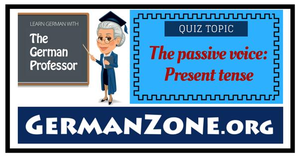 German passive voice: present tense